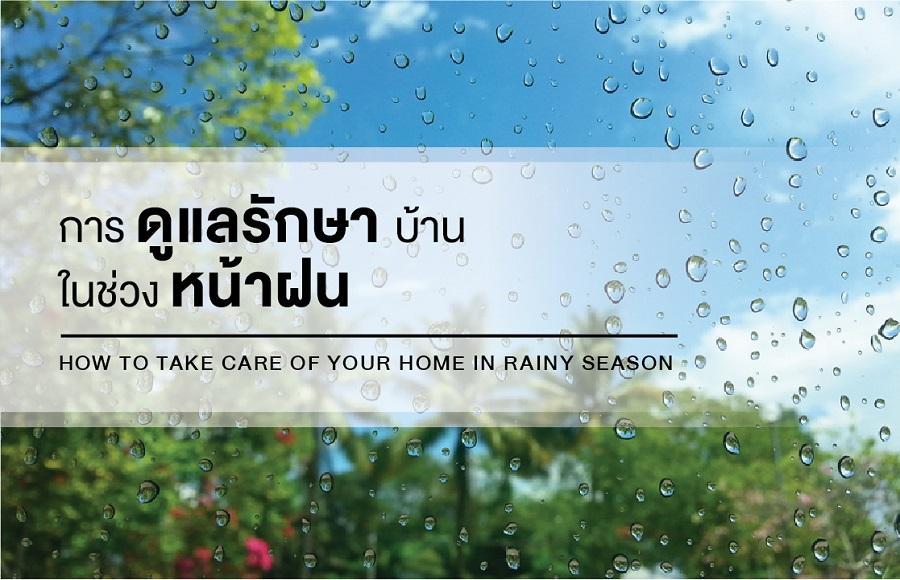 การดูแลรักษาบ้านในช่วงหน้าฝน