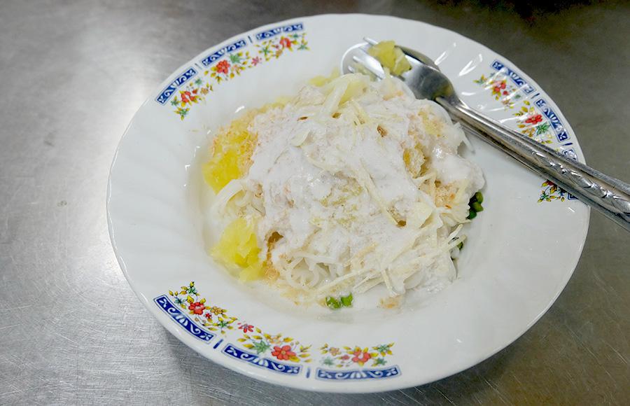 ร้านอร่อยย่านเตาปูน - ขนมจีนซาวน้ำ